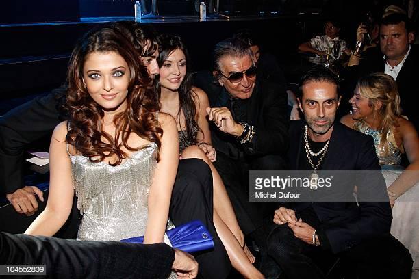 Aishwarya Rai guest Roberto Cavalli and Giambatista Valli attend the Roberto Cavalli party 40 anniversary at Les BeauxArts de Paris on September 29...
