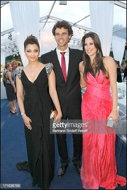 Aishwarya Rai Gustavo KuertenEt companion Mariana Censini at Charity Dinner Sponsored By Longines Elegance Is An Attitude In Benefit Of Foundation...