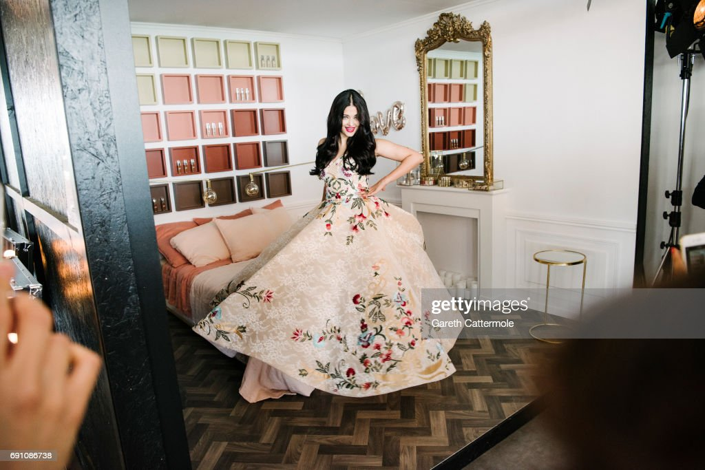 Aishwarya Rai is photographed at the L'Oreal Paris Beach Studio during the 70th annual Cannes Film Festival on May 19 2017 in Cannes France