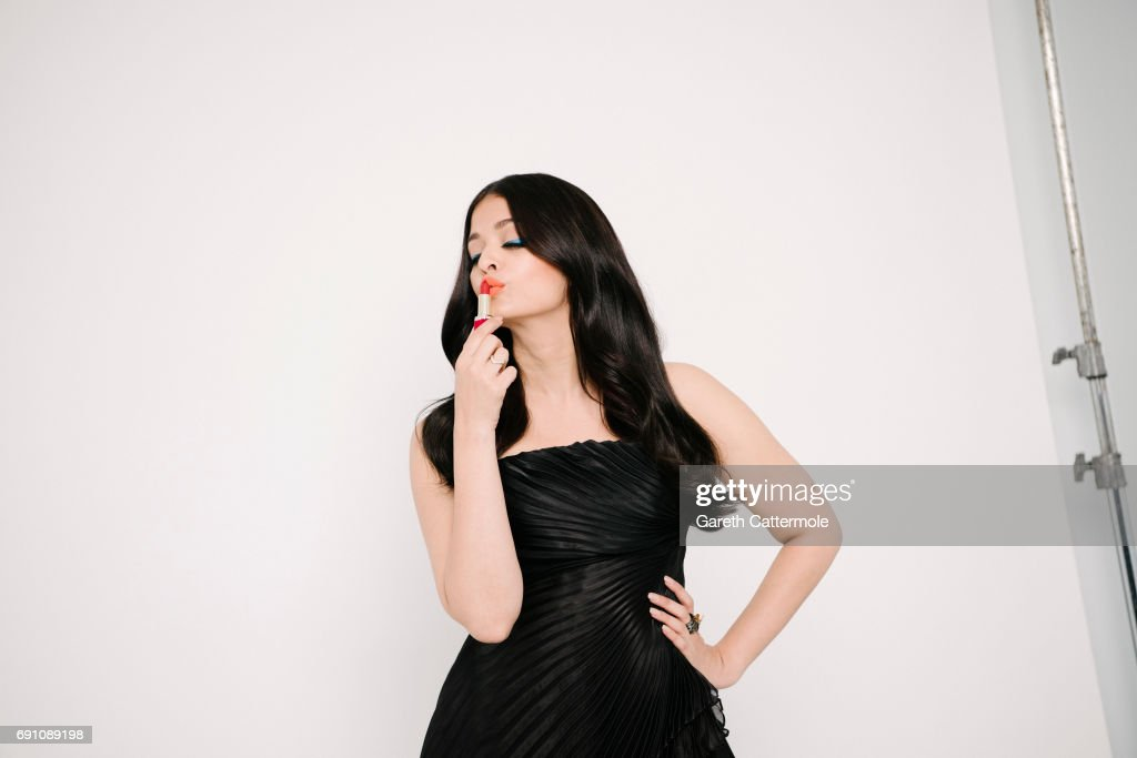 Aishwarya Rai is photographed at the L`Oreal Paris Beach Studio during the 70th annual Cannes Film Festival on May 20 2017 in Cannes France