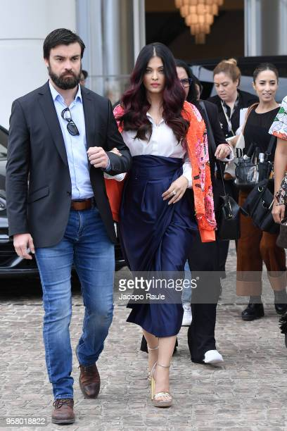 Aishwarya Rai is seen arriving at Hotel Martinez during the 71st annual Cannes Film Festival at on May 13 2018 in Cannes France