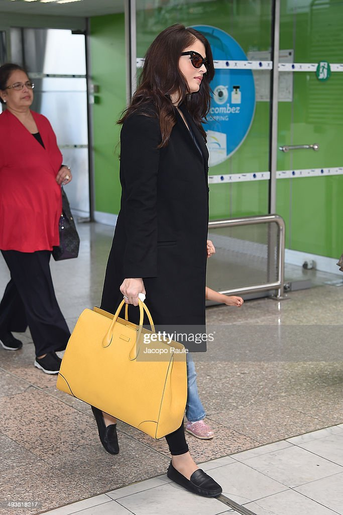 Aishwarya Rai is seen arriving in Nice for the 67th Annual Cannes Film Festival on May 24 2014 in Nice France