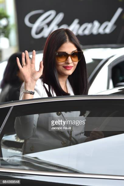 Aishwarya Rai is spotted at Hotel Martinez during the 70th annual Cannes Film Festival at on May 18 2017 in Cannes France