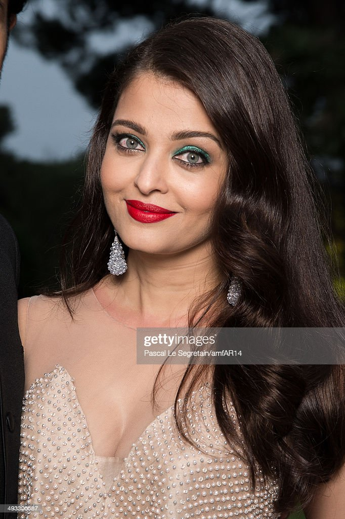 Aishwarya Rai poses for a portrait at amfAR`s 21st Cinema Against AIDS Gala Presented By WORLDVIEW BOLD FILMS And BVLGARI at Hotel du CapEdenRoc on...