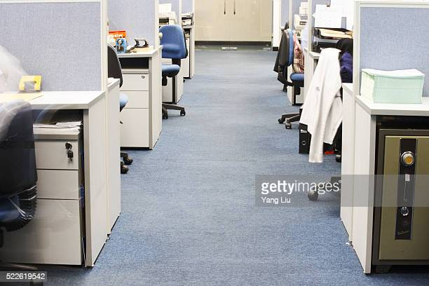 Aisle Between Office Cubicles