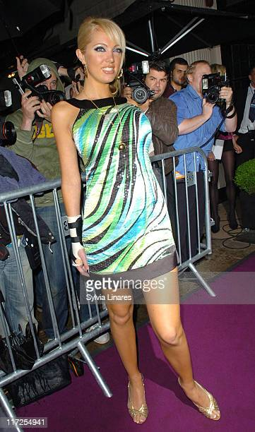 Aisleyne Horgan Wallace during Celebrity Sightings at Movida Club in London June 13 2007 at Movida Club in London Great Britain