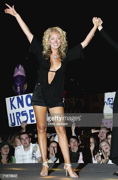 Aisleyne Horgan Wallace is evicted from the Big Brother House in third place during the final of Big Brother Seven on August 18 2006 in London England