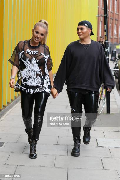 Aisleyne Horgan-Wallace arriving at MTV Studios in Camden on November 05, 2019 in London, England.