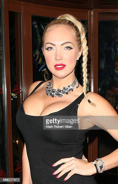 Aisleyne HorganWallace at the Soho Sanctum Hotel on September 14 2015 in London England