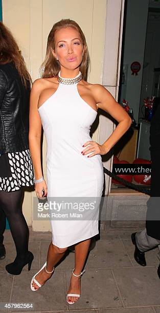Aisleyne HorganWallace attending the Amy Childs clothing collection party at Dirty Martini on October 27 2014 in London England
