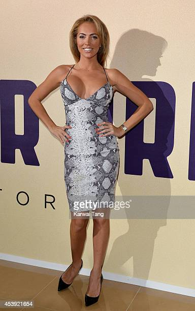 Aisleyne HorganWallace attends a Gala screening of 'Million Dollar Arm' at May Fair Hotel on August 21 2014 in London England