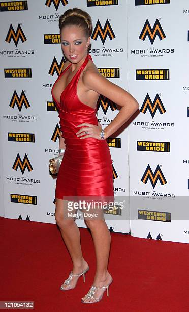 Aisleyne HorganWallace attends the MOBO Awards at the o2 Arena on September 19 2007 in London England