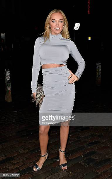 Aisleyne HorganWallace attends the Playtech launch party at Gilgamesh on February 3 2015 in London England
