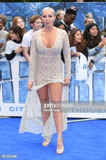 Aisleyne HorganWallace attends the 'Valerian And The City Of A Thousand Planets' European Premiere at Cineworld Leicester Square on July 24 2017 in...