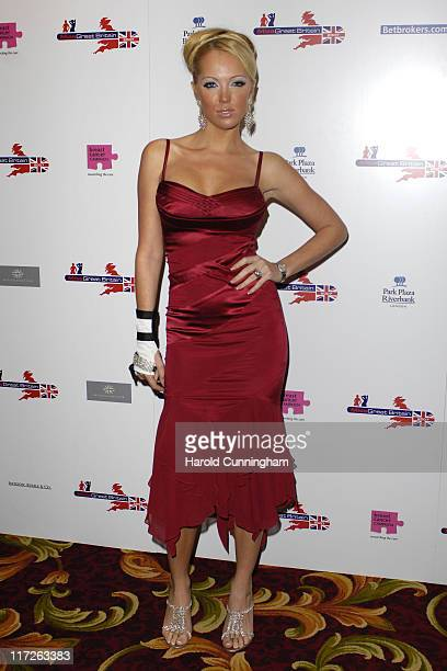 Aisleyne HorganWallace during Miss Great Britain 2007 – Red Carpet Arrivals at Grosvenor House in London United Kingdom