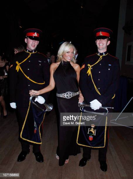 Aisleyne HorganWallace with Daniel Richards and Guy Ridley attend the Hope For Heroes dinner at the Natural History Museum on November 25 2010 in...