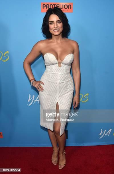 Aislin Derberz attends the premiere of Pantelion Films' 'Ya Veremos' at Regal Cinemas LA LIVE Stadium 14 on August 27 2018 in Los Angeles California