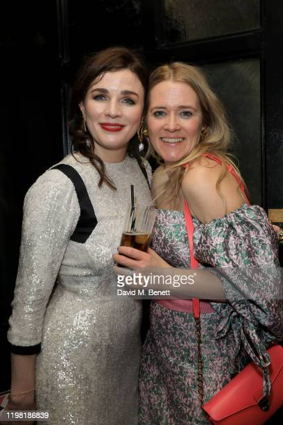 Aisling Bea and Edith Bowman pose the Netflix BAFTA after party at Chiltern Firehouse on February 2 2020 in London England