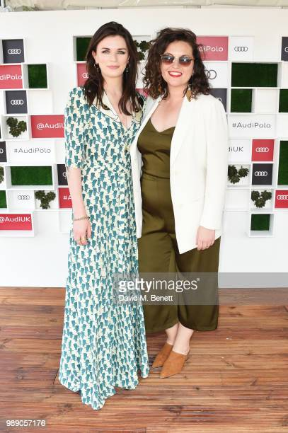 Aisling Bea and Hannah JamesScott attend the Audi Polo Challenge at Coworth Park Polo Club on July 1 2018 in Ascot England