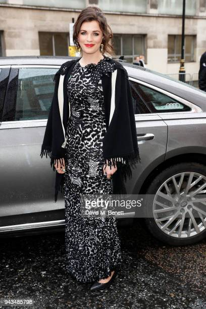 Aisling Bea arrives in an Audi for the Laurence Olivier Awards at the at Royal Albert Hall on April 8 2018 in London England