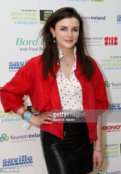 Aisling Bea attends An Evening With Dermot O'Leary PresentsEd Sheeran At The London Irish Centre on June 19 2018 in London England