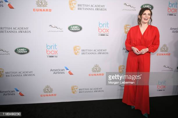 Aisling Bea attends the 2019 British Academy Britannia Awards presented by American Airlines and Jaguar Land Rover at The Beverly Hilton Hotel on...