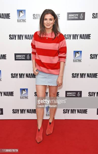 Aisling Bea attends the Say My Name Gala Screening in association with Amnesty International at the Odeon Luxe Leicester Square on April 23 2019 in...