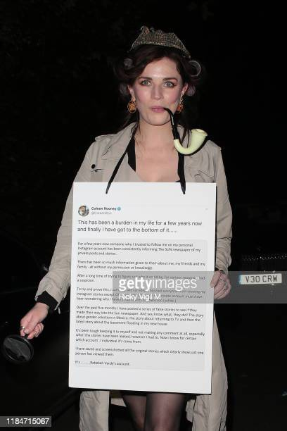 Aisling Bea seen attending Jonathan Ross Halloween party on October 31 2019 in London England