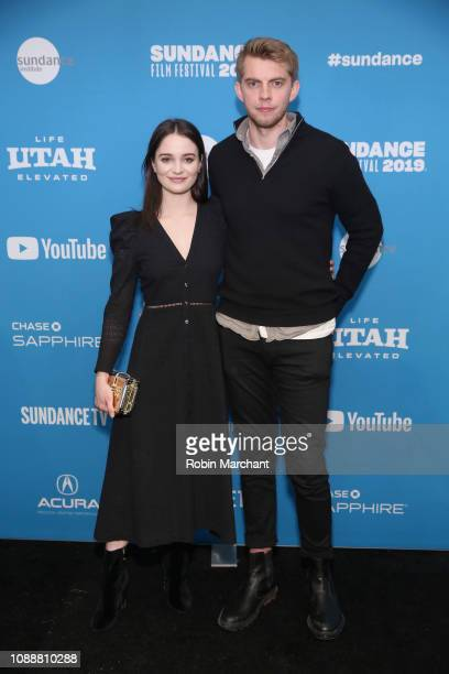 Aisling Franciosi and Harry Greenwood attend the The Nightingale Premiere during the 2019 Sundance Film Festival at The Marc Theatre on January 25...
