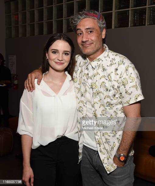 Aisling Franciosi and Taika Waititi attend the Los Angeles Special Screening of The Nightingale at NeueHouse Los Angeles on July 29 2019 in Hollywood...