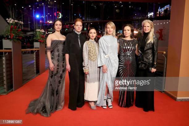 Aisling Franciosi , Rea Lest , Emma Drogunova , Ine Marie Wilmann , Kristin Thora Haraldsdottir and Martha De Laurentiis pose at the European...