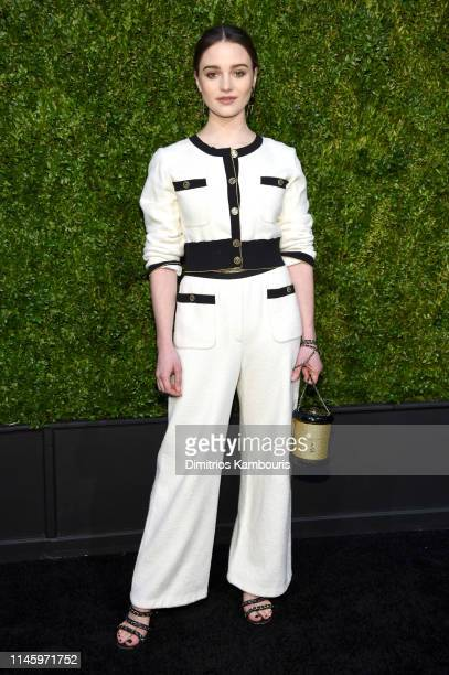 Aisling Franciosi wearing CHANEL attends as CHANEL hosts 14th Annual Tribeca Film Festival Artists Dinner at Balthazar on April 29 2019 in New York...