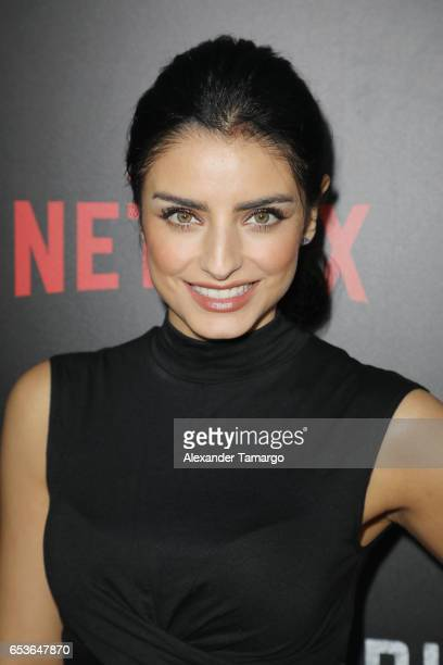 Aislinn Derbez arrives at the Netflix Ingobernable S1 Premiere Miami Screening 2017 on March 15 2017 in Miami Beach Florida
