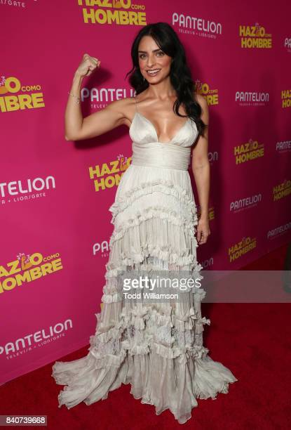 Aislinn Derbez attends the 'Hazlo Como Hombre' Los Angeles Premiere at ArcLight Hollywood on August 29 2017 in Hollywood California