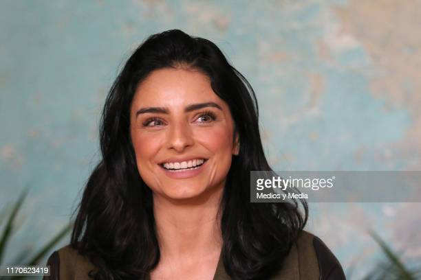 Aislinn Derbez attends the Merkaba x Ais y Mau collection launch at Televisa San Angel on August 27 2019 in Mexico City Mexico