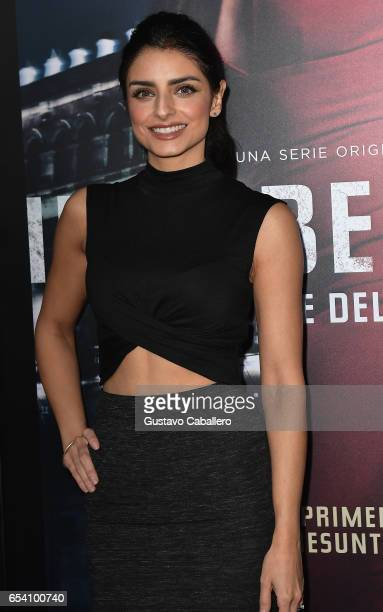 Aislinn Derbez attends the Premiere Of Netflix's Ingobernable Arrivals at Colony Theater on March 15 2017 in Miami Beach Florida