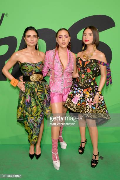 Aislinn Derbez Danna Paola and Domelipa attend the 2020 Spotify Awards at the Auditorio Nacional on March 05 2020 in Mexico City Mexico