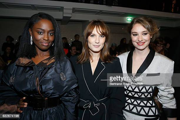 Aissa Maiga Ana Girardot and Deborah Francois attend the Jean Paul Gaultier Haute Couture Spring Summer 2017 show as part of Paris Fashion Week on...