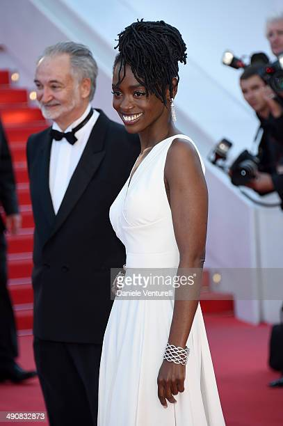 Aissa Maiga and guest attend the 'MrTurner' Premiere at the 67th Annual Cannes Film Festival on May 15 2014 in Cannes France