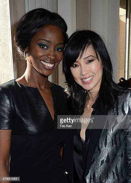 Aissa Maiga and Linh Dan Pham attend the Maxime Simoens show as part of the Paris Fashion Week Womenswear Fall/Winter 20142015 at 2015 at Lycee Jean...