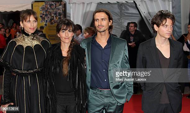Aissa Maiga and Maiwenn and Romane Bohringer and Nicolas Fargues and Raphael arrive for the screening of the movie 'Me and Orson Welles' at the 35th...