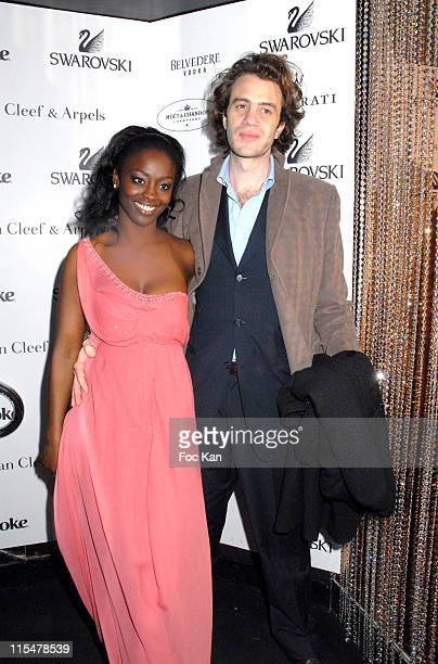 Aissa Maiga and Raphael Frydman during Albane Cleret's Jimmy'z Party Paris February 24 2007 in Paris France