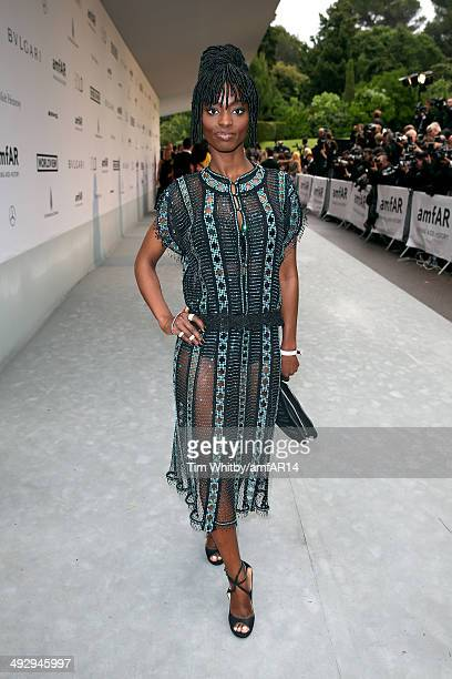 Aissa Maiga attends amfAR's 21st Cinema Against AIDS Gala Presented By WORLDVIEW BOLD FILMS And BVLGARI at Hotel du CapEdenRoc on May 22 2014 in Cap...