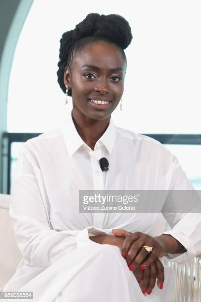 Aissa Maiga attends Kering Talks Women In Motion At The Cannes Film Festival at Majestic Barriere on May 16 2018 in Cannes France