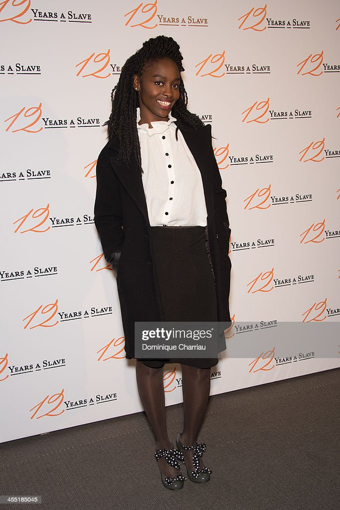 Aissa Maiga attends the '12 Years A Slave' Paris premiere at Cinema UGC Normandie on December 11, 2013 in Paris, France.