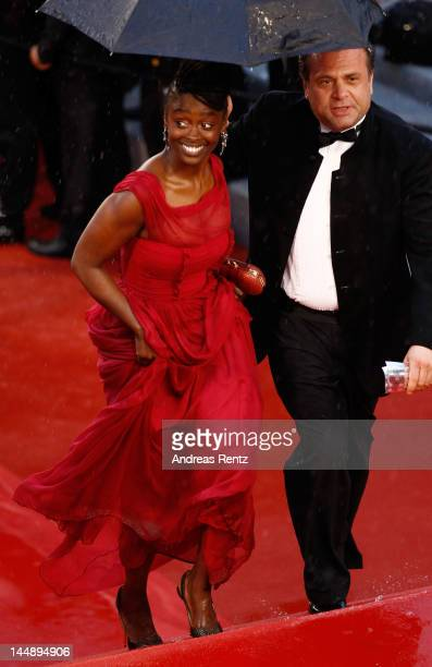 """Aissa Maiga attends the """"Amour"""" premiere during the 65th Annual Cannes Film Festival at Palais des Festivals on May 20, 2012 in Cannes, France."""