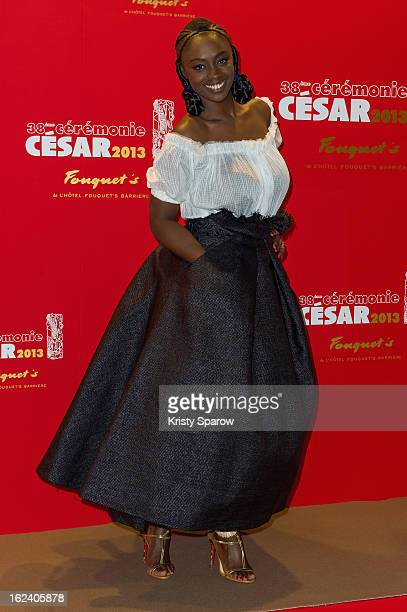 Aissa Maiga attends the Cesar Film Awards 2013 at Le Fouquet's on February 22 2013 in Paris France