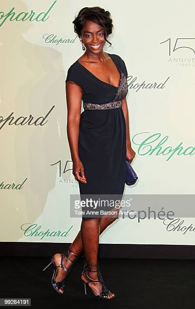 Aissa Maiga attends The Chopard Trophy Dinner at the Hotel Martinez during the 63rd Annual International Cannes Film Festival on May 13 2010 in...