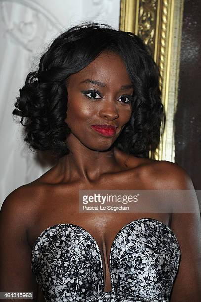Aissa Maiga attends the Jean Paul Gaultier show as part of Paris Fashion Week Haute Couture Spring/Summer 2014 on January 22 2014 in Paris France