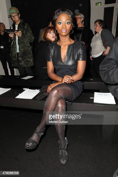 Aissa Maiga attends the Maxime Simoens show as part of the Paris Fashion Week Womenswear Fall/Winter 20142015 on March 2 2014 in Paris France